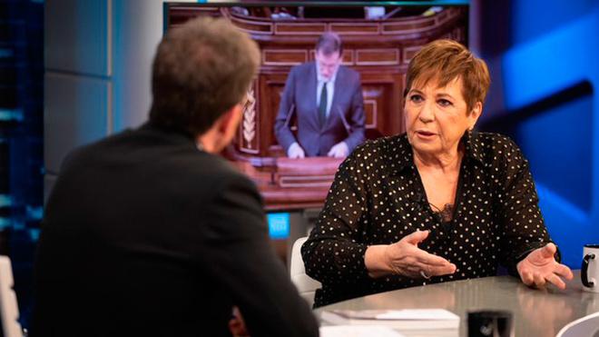 El Hormiguero: Celia Villalobos, en un momento de la entrevista con...