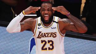LeBron James en el sexto partido ante los Heat