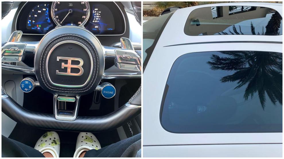 Bad Bunny conduce su Bugatti Chiron Sport 110 Ans Bugatti.