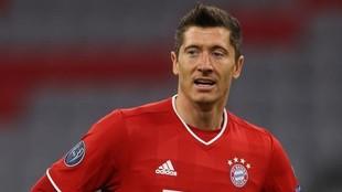 Lewandowski, en un partido con el Bayern Múnich.