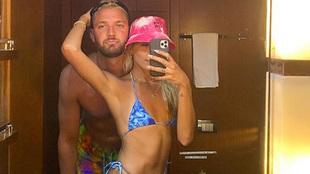 Chandler Parsons con su pareja Haylee Harrison