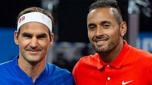 Federer y Kyrgios, en la Laver Cup