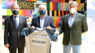 Presentación de las camisetas de calentamiento del Movistar...