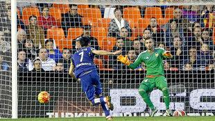 Jaume Doménech en un partido del Valencia contra el Getafe en...