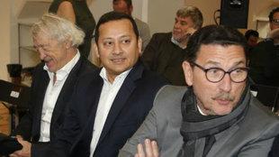 José Luis Zaragosí junto al presidente del Valencoa, Anil Murthy.