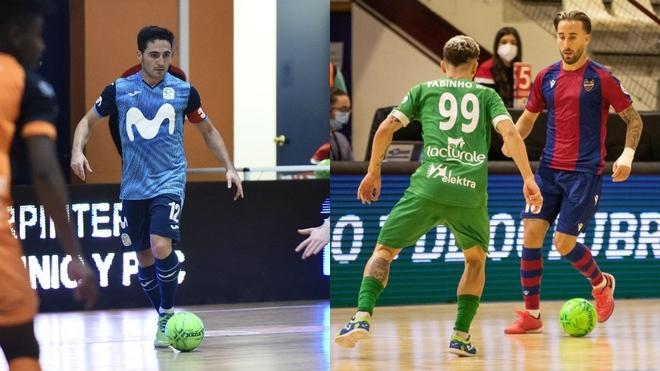 Borja y Rivillos, jugadores del Movistar Inter y el Levante.