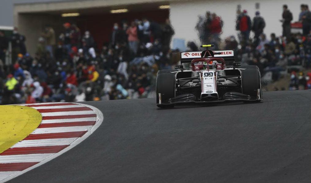 Giovinazzi, durante el pasado Gran Premio de Portugal en Portimao.