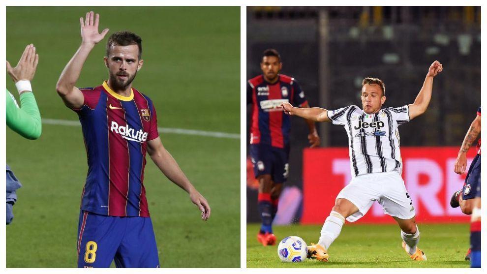 juventus vs barcelona pjanic vs arthur an odd duel in turin marca in english juventus vs barcelona pjanic vs arthur