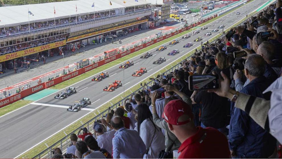 Salida del Gran Premio de España 2020