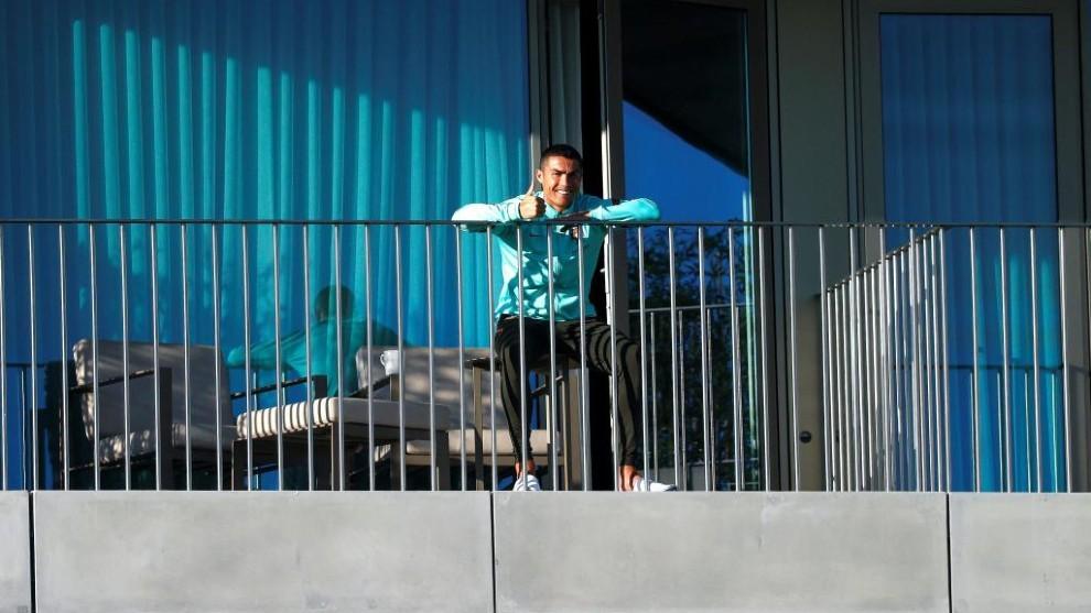 Cristiano, aislado en el hotel de concentración de Portugal.