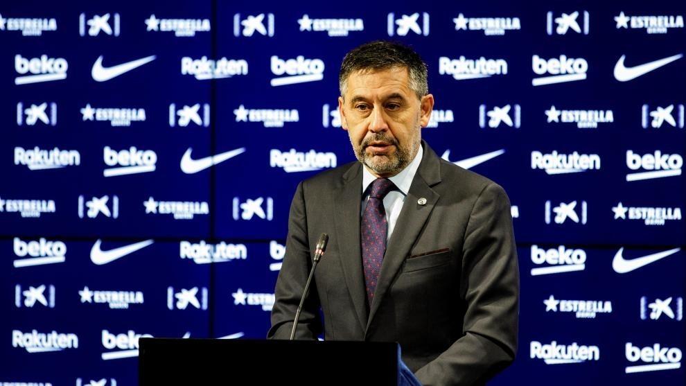 Barcelona president Bartomeu submits resignation