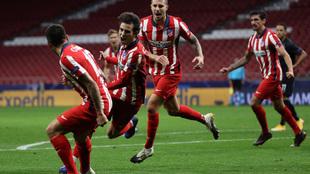 Joao Félix celebra el gol de la victoria.