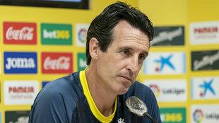 El técnico del Villarreal,  Unai Emery.