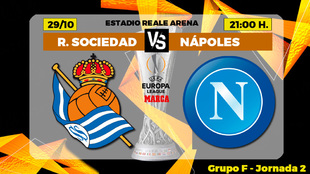 Real Sociedad - Napoles: horario, canal y donde ver hoy por TV el...