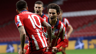 Joao Felix celebra el gol de la victoria frente al Salzburgo.