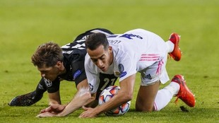 Lucas, en el partido ante el Borussia