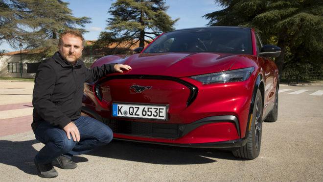 Una de las unidades del Ford Mustang Mach-E presentadas en Madrid.