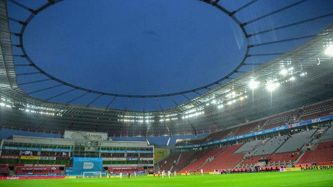 Imagen del Bay Arena, sin público.