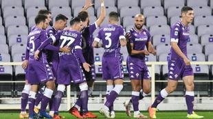 La Fiorentina celebra un gol