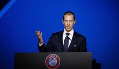 Aleksander Ceferin, presidente de la UEFA, en un comparecencia.