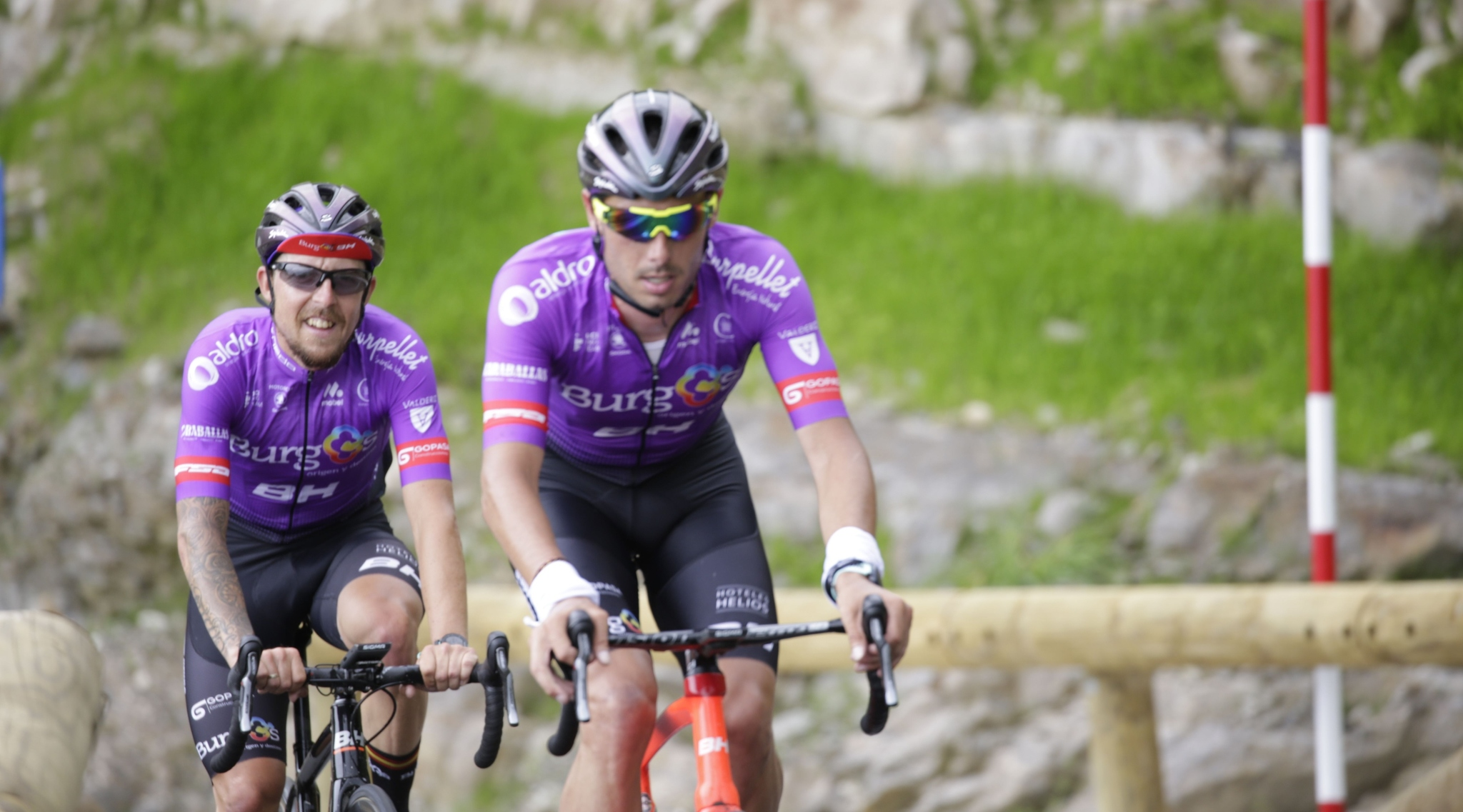 Madrazo y Ezquerra en un entrenamiento con el Burgos BH