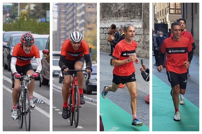 Martín Fiz gana el duelo solidario contra Indurain tras 20 km en bici y 5 km a pie