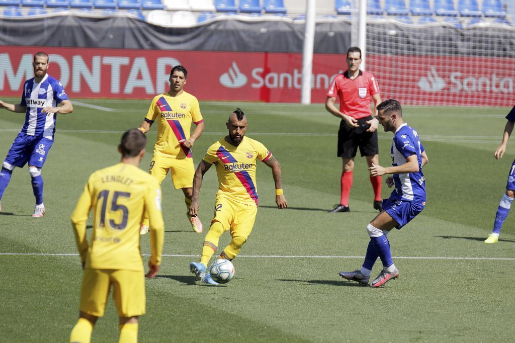 Encuentro del Alavés frente al FC Barcelona la temporada pasada