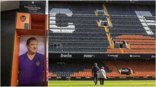 Charo, viuda de Españeta, se dirige al centro de Mestalla para...