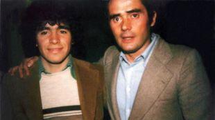 Maradona y Gianni Di Marzio en 1978