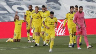 El Cádiz celebra el gol que le dio la victoria a domicilio frente al...