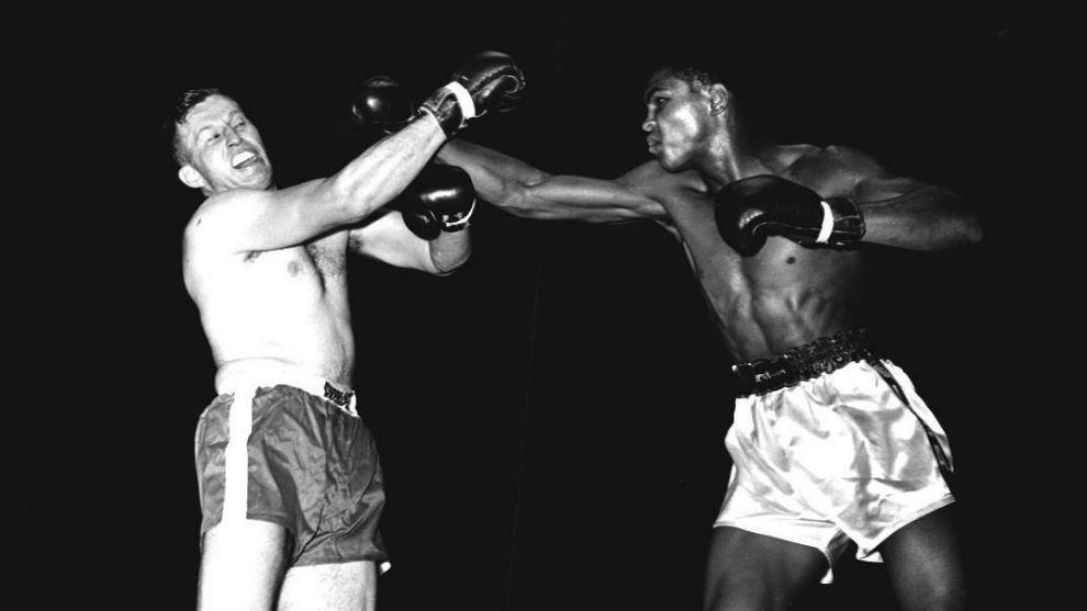 Clay y Hunsaker, durante la pelea