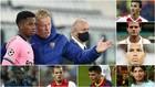 Koeman con Ansu Fati, Ibrahimovic, Mata, Van Dijk, Banega, Pedri,...