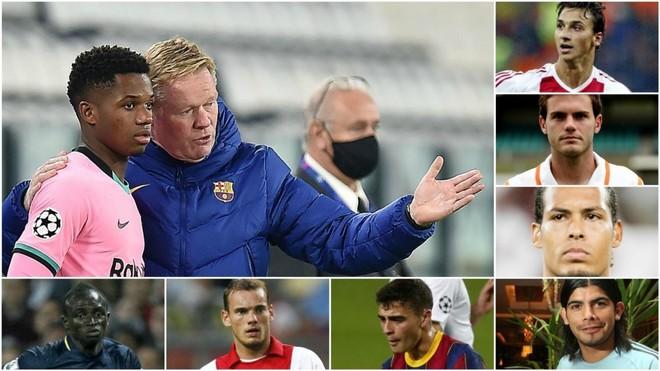 Ansu Fati and Koeman; Ibrahimovic, Mata, Van Dijk, Banega, Pedri,...