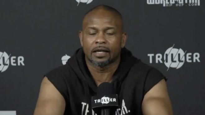 Roy Jones Jr., en rueda de prensa con Mike Tyson.