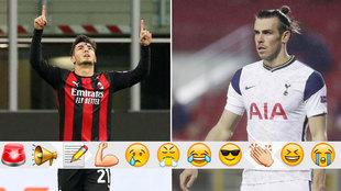 Brahim, con el Milan, y Bale, con el Tottenham.