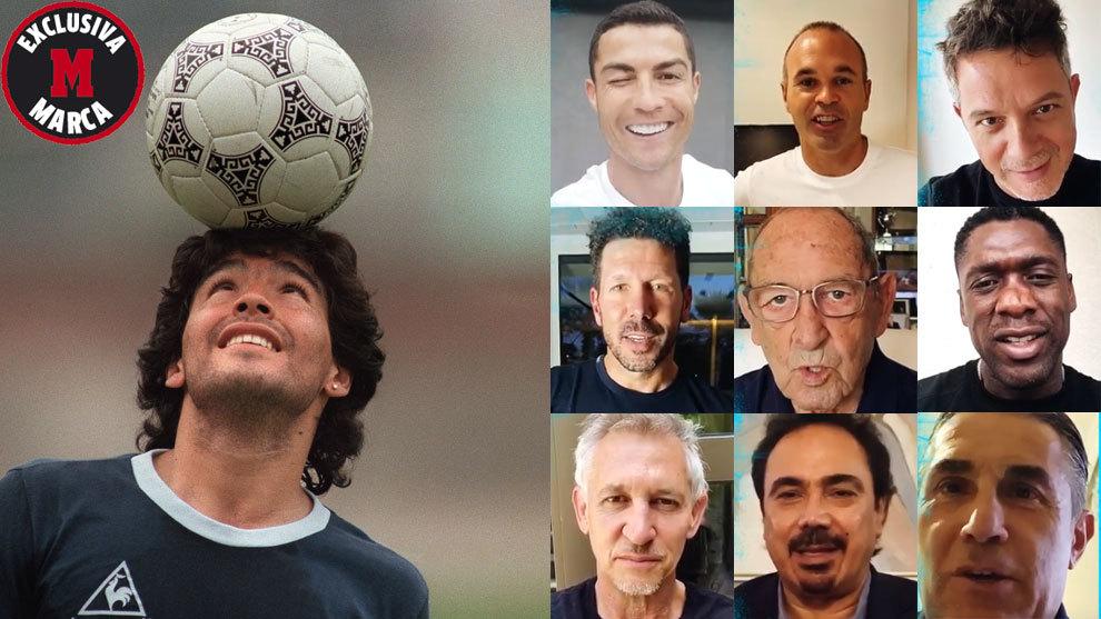 """Exclusiva MARCA: 156 estrellas felicitan al Diego, """"Eternamente Maradona"""""""