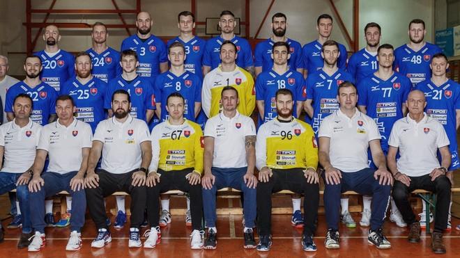 La selección eslovaca de balonmano