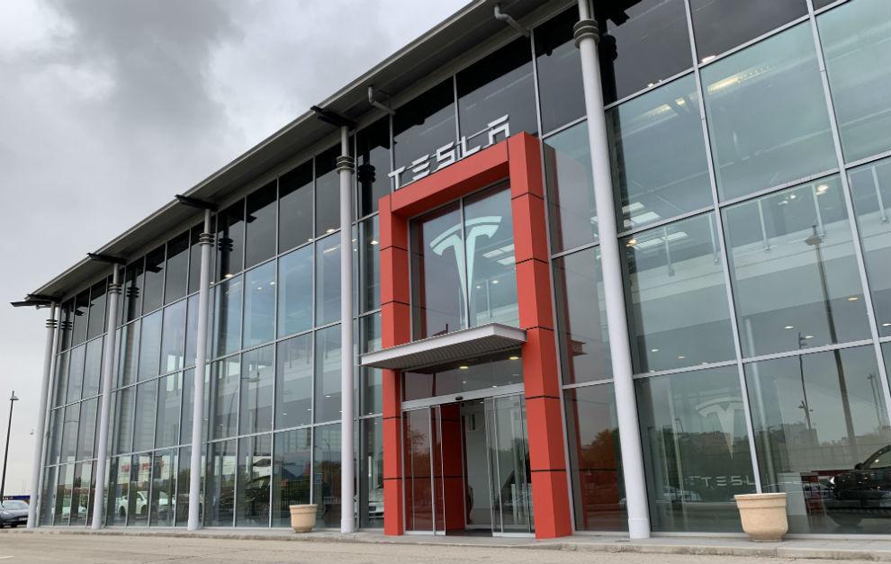 El Centro Tesla de Madrid-Sur, en Fuenlabrada.