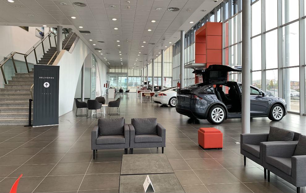 El nuevo Centro Tesla de Madrid-Sur, en Fuenlabrada.