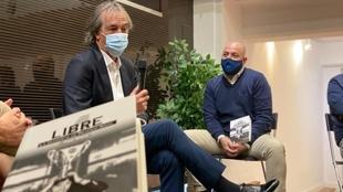 Ricardo Arias junto a Fran Guaita en la presentación de...