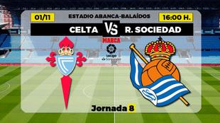 Celta - Real Sociedad: horario y donde ver por TV el partido de la...
