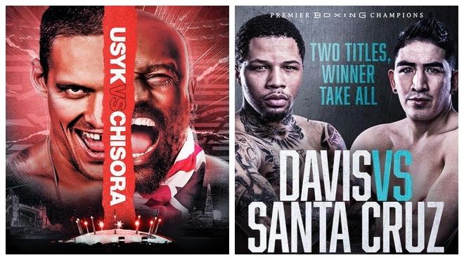 Los carteles de las peleas Usyk vs Chisora y Gervonta Davis vs Santa...