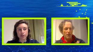 Cecilia Carranza y Santiago Lange, en el Virtual Valencia Boat Show.