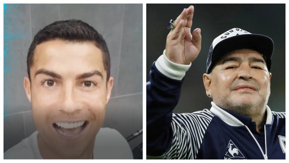 Cristiano Ronaldo and Maradona