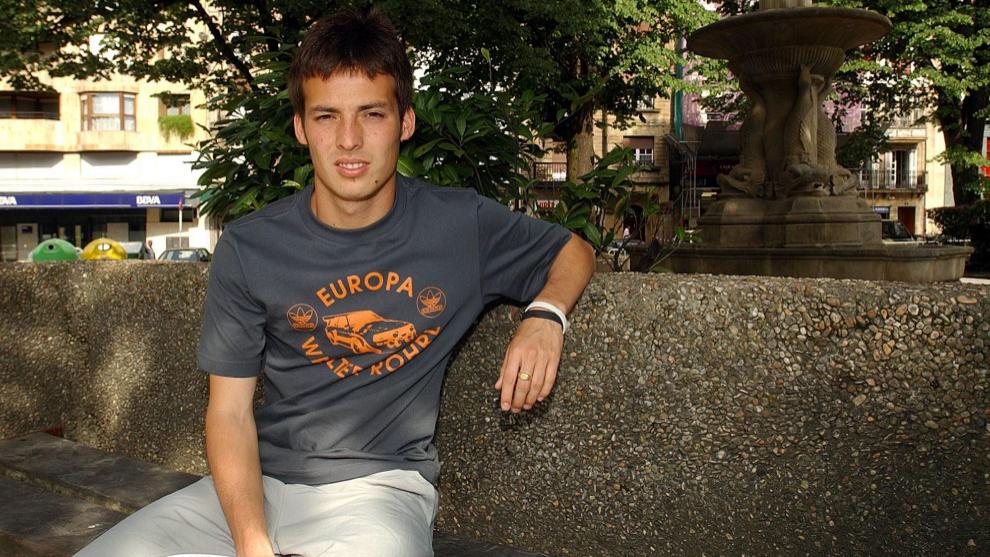 David Silva posa para MARCA durante su etapa en el Eibar.
