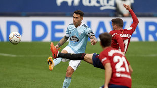 Hugo Mallo, en un partido de esta temporada.