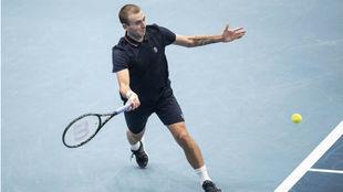 Daniel Evans, en su partido contra Dimitrov en Viena.