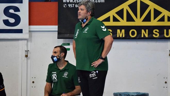 Paco Bustos, durante un partido de Liga del Ángel Ximénez Puente...