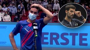 Te cargas a Djokovic dando la sorpresa y haces este discurso: Sonego ya es un mito del tenis