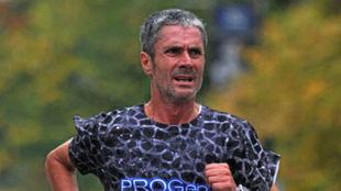 Martín Fiz, en una carrera